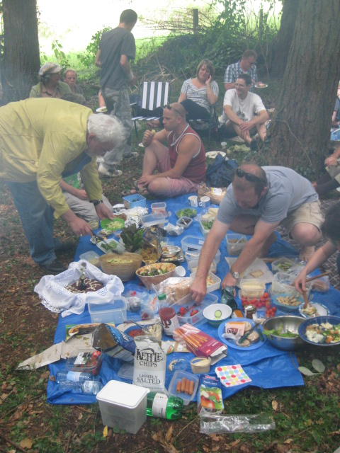 Celebratory picnic
